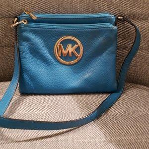 Michael Kors blue cross body bag